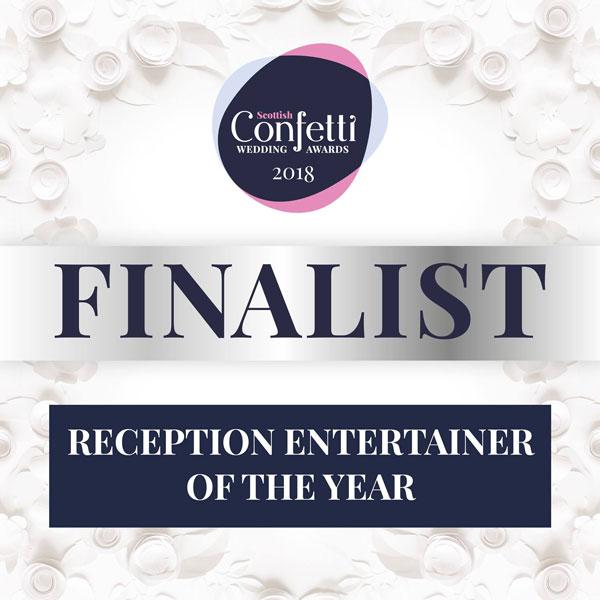 Wedding DJ Glasgow - Confetti Awards Finalist - Reception Entertainer of the Year