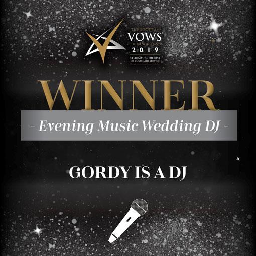 Wedding DJ Glasgow - VOWS Award Winner 2016